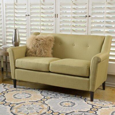Bocan Modern Loveseat Upholstery: Green Yellow