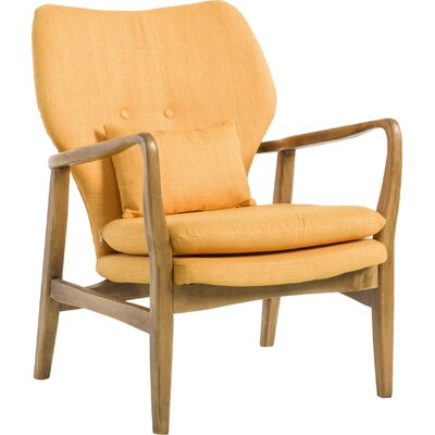 Andersen Accent Armchair Upholstery: Orange