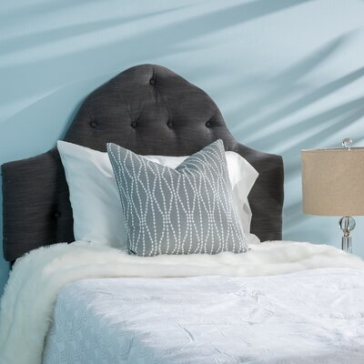 Arria Twin Panel Headboard Upholstery: Dark Gray