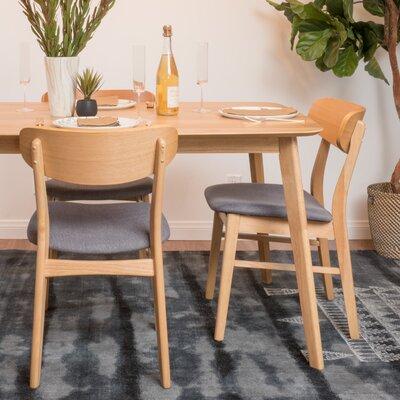 Jason Side Chair Upholstery: Mint, Finish: Natural Walnut