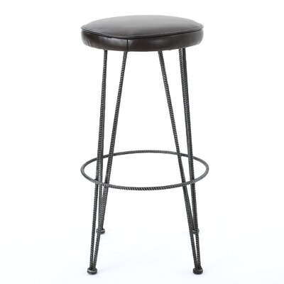 Anjeli 30 Barstool Color: Brown