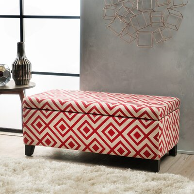 Courtney Storage Ottoman Color: Red