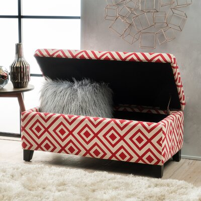 Courtney Ottoman Finish: Red