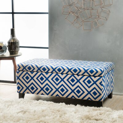 Courtney Storage Ottoman Color: Navy Blue