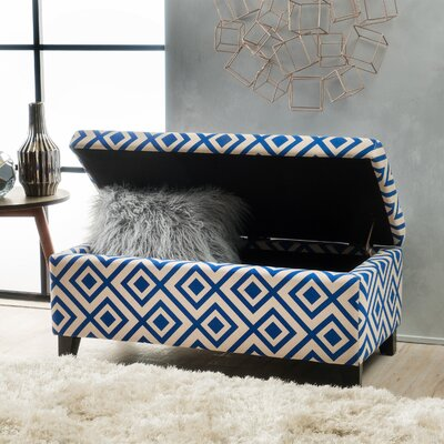 Courtney Ottoman Finish: Navy Blue