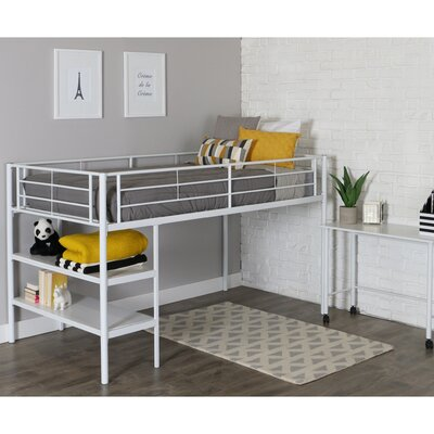 Twin Loft Bed Finish: White