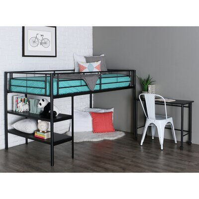 Twin Loft Bed Finish: Black