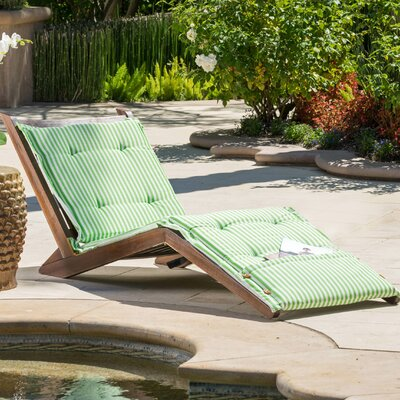 Granville Chaise Lounge with Cushion Fabric: Green/Sage