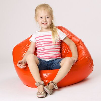 Jack and Jil Bean Bag Chair Upholstery: Orange