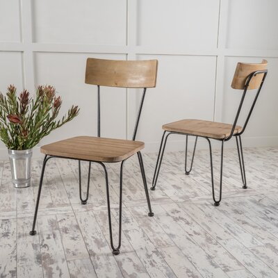 Boville Wood Side Chair Color: Natural Antique