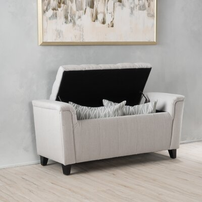 Collins Ottoman Finish: Ivory