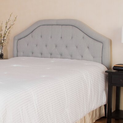 Lexi Queen Upholstered Panel Headboard Upholstery: Light Grey
