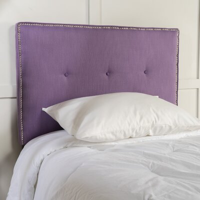 Samuel Twin Upholstered Panel Headboard Upholstery: Light Purple