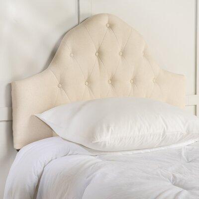 Arria Twin Panel Headboard Upholstery: Beige