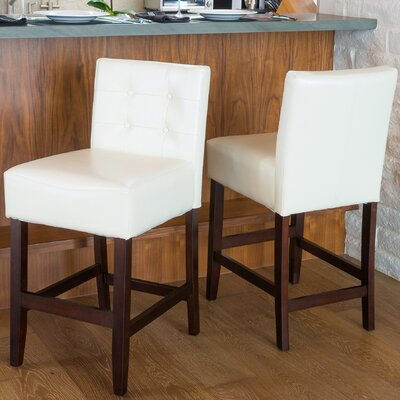 26 Bar Stool Upholstery: Ivory