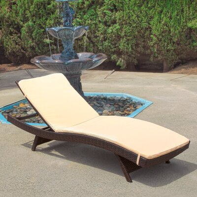 Montenegro Adjustable Chaise Lounge with Beige Cushions