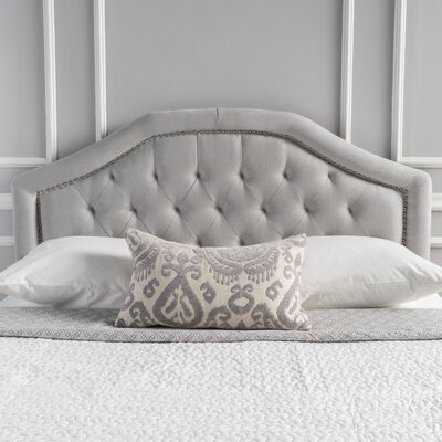 Bridges Upholstered Panel Headboard Upholstery: Light Gray, Size: Twin