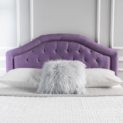 Bridges Upholstered Panel Headboard Upholstery: Light Purple, Size: Full / Queen