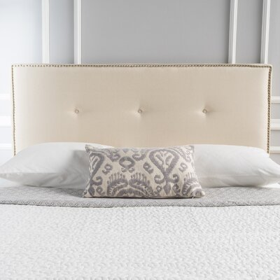 Samuel Full Upholstered Panel Headboard Upholstery: Beige