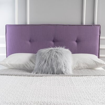 Samuel Full Upholstered Panel Headboard Upholstery: Light Purple