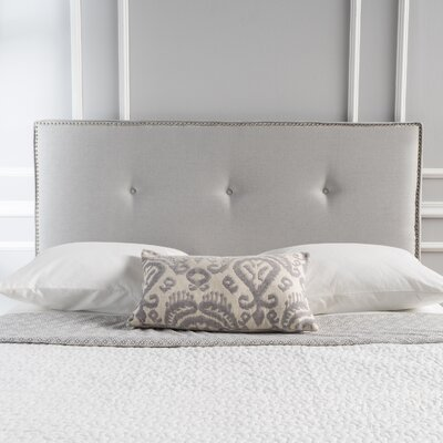 Samuel Full Upholstered Panel Headboard Upholstery: Light Gray