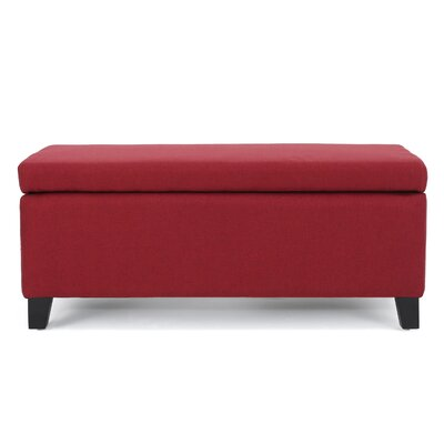 Connie Ottoman Upholstery: Deep Red