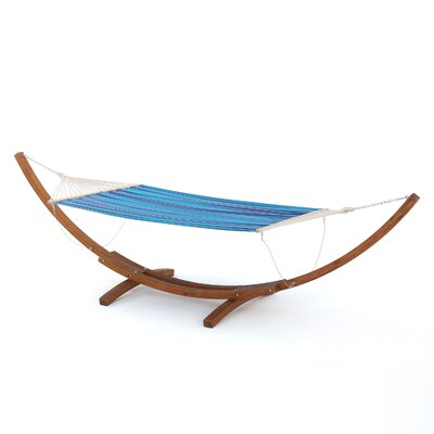 Ava Hammock with Base Color: Multiblue Red and White Stripe