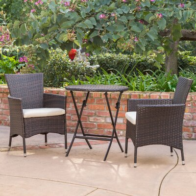Chaonado 3 Piece Bistro Set
