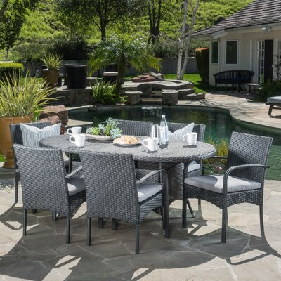 Anthony 7 Piece Dining Set Finish: Gray