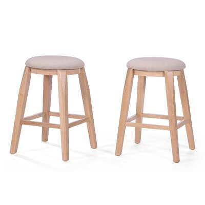 Baltwood 26 Bar Stool Upholstery: Cream