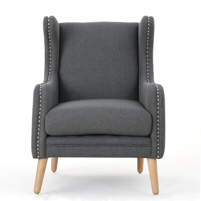 Coombs Wing back Chair Upholstery: Charcoal