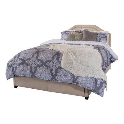 Haverford Fabric Upholstered Storage Platform Bed Size: Full, Color: Beige