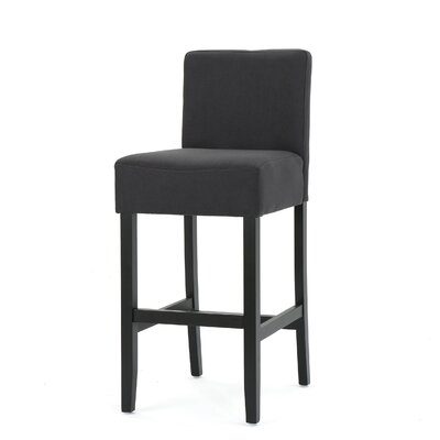 Chamness 30 Bar Stool Upholstery: Dark Charcoal
