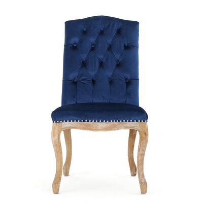 Paulk New Side Chair Upholstery: Navy Blue