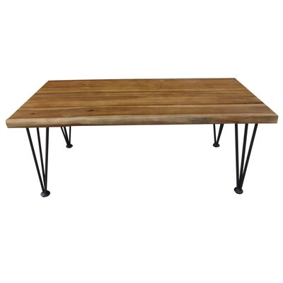 Frye Outdoor Wood 3 Piece Coffee Table Set