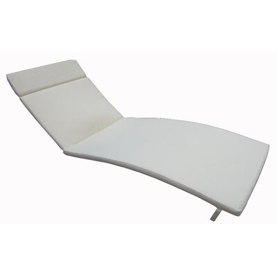 Outdoor Chaise Lounge Cushion Color: Beige