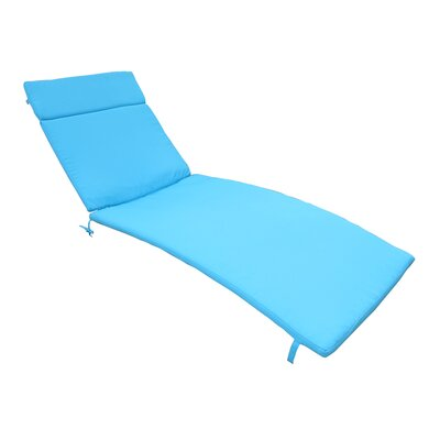 Outdoor Chaise Lounge Cushion Color: Blue