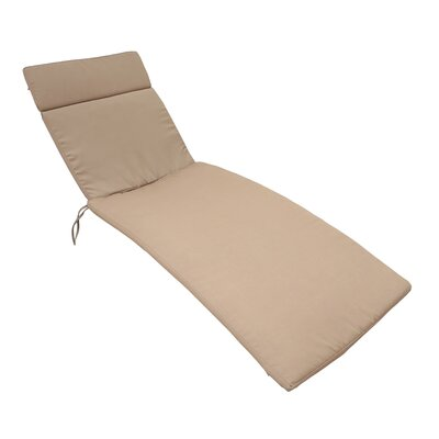 Outdoor Chaise Lounge Cushion Color: Carmel