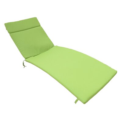 Acad Outdoor Wicker Arm Chaise Lounge Fabric: Jungle Green