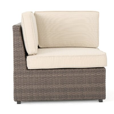Hults Outdoor 12 Piece Rattan Sectional Set with Cushions