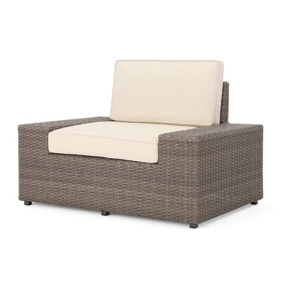 Hults Outdoor 9 Piece Rattan Sectional Set with Cushions
