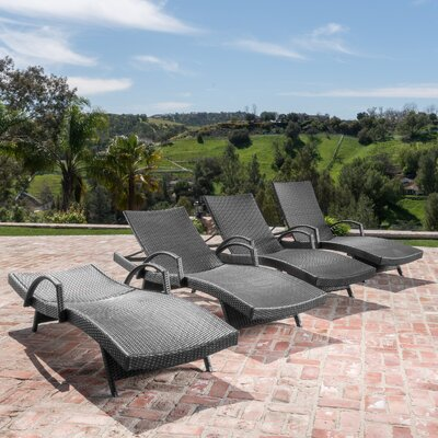 Berne Outdoor Wicker Chaise Lounge