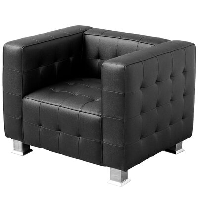 Jacinth Leather Tufted Club Chair
