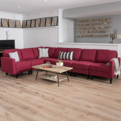 Swick Modular Sectional Upholstery: Deep Red