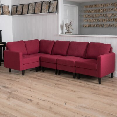 Buffum Sectional Upholstery: Deep Red