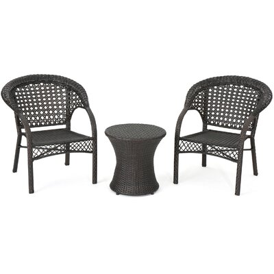 Martingale Outdoor Wicker 3 Piece Lounge Seating Group