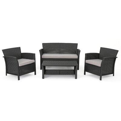 Logan Outdoor 4 Piece Rattan Sofa Set