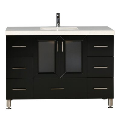 Karson 48 Single Bathroom Vanity Set Base Finish: Espresso