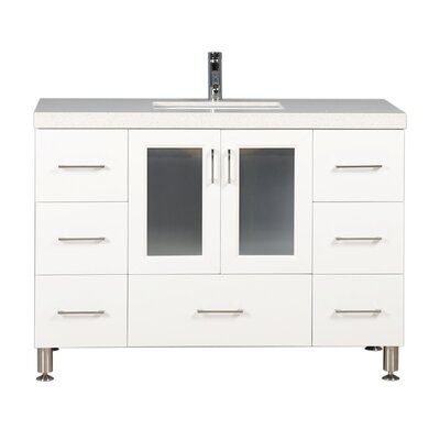Karson 48 Single Bathroom Vanity Set Base Finish: White