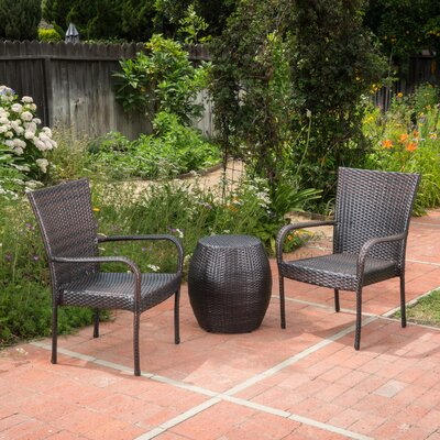 Parkwoods Outdoor Rattan 3 Piece Conversation Set